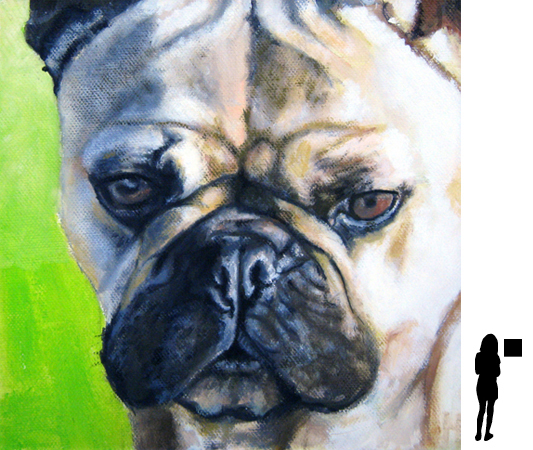 Hondje 6, olieverf op linnen, 30 x 30 cm.