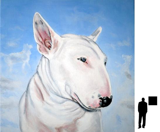 Hondje 7, olieverf op linnen, 50 x 50 cm.