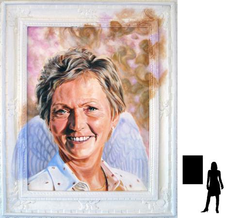 Schoonmoeder Frans, olieverf op linnen, 70 x 100 cm. excl. lijst.