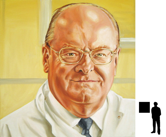Prof. Tytgat, olieverf op linnen, 60 x 60 cm., in opdracht voor het AMC Liver Centre.