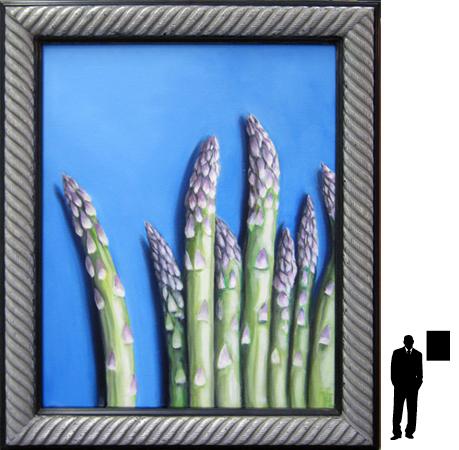 Asperges, olieverf op linnen, 40 x50 cm. ex lijst, 250,- incl. lijst