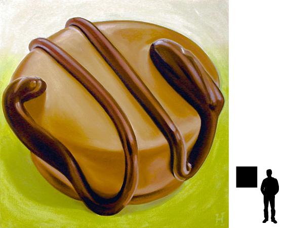 Bonbon 1, olieverf op linnen, 70 x 70 cm.