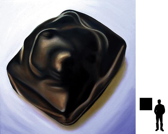 Bonbon 4, olieverf op linnen, 70 x 70 cm.