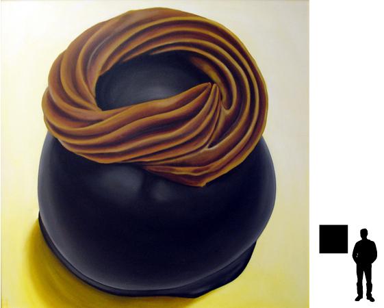 Bonbon 6, olieverf op linnen, 70 x 70 cm.