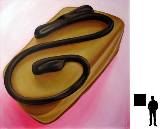 Bonbon 7, olieverf op linnen, 70 x 70 cm.
