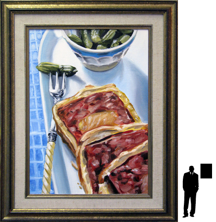 Pate en croute, olieverf op linnen, 36 x 50 cm. ex lijst, 300,- incl. lijst