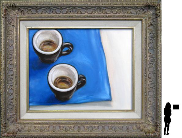 Espresso's, olieverf op linnen, 34 x 27 cm. ex lijst, 250,- incl. lijst
